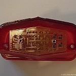 LED rear shown light inside Lucas 564 lens