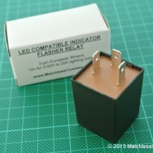 LED compatible flasher relay (3-pin)