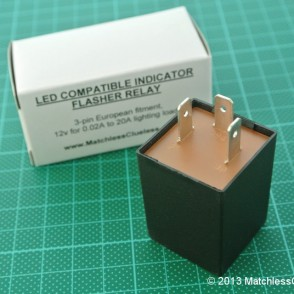 LED indicator flasher relay
