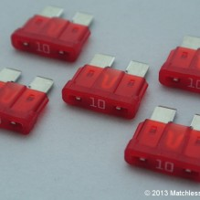10 Amp ATO blade fuses (pack of 5)