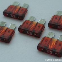 7.5 Amp ATO blade fuses (pack of 5)