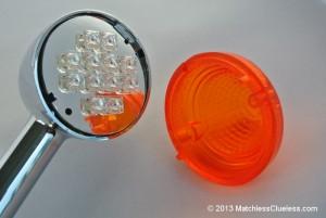 Reinstalling the orange plastic lens