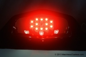 Tail and brake light illumination LEDs
